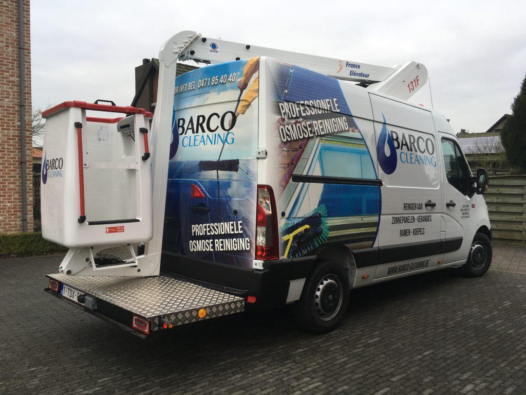 Barco cleaning bestelwagen