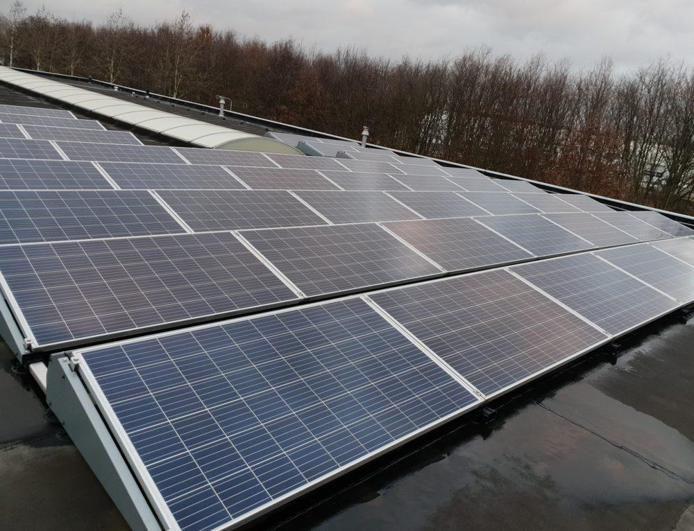 Reinigen 48 zonnepanelen te Stevensweert (nl)
